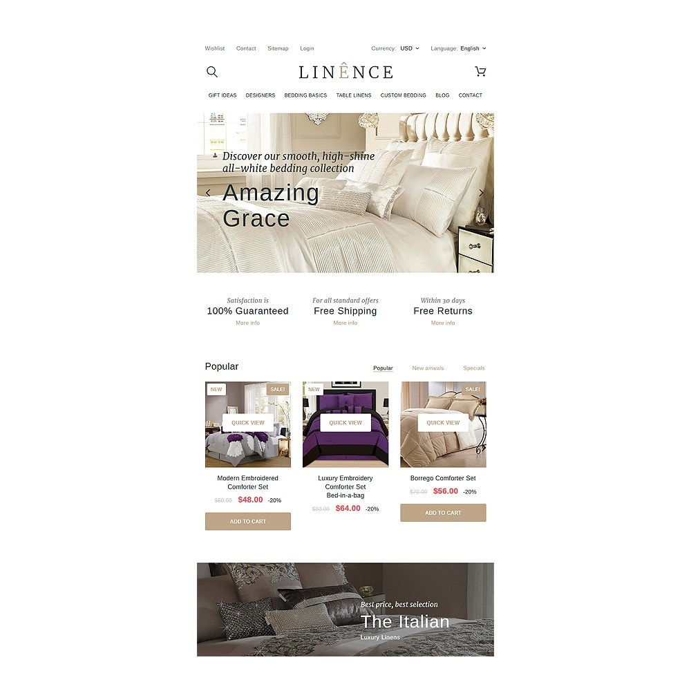 theme - Мода и обувь - Linence - Bed Linen - 7