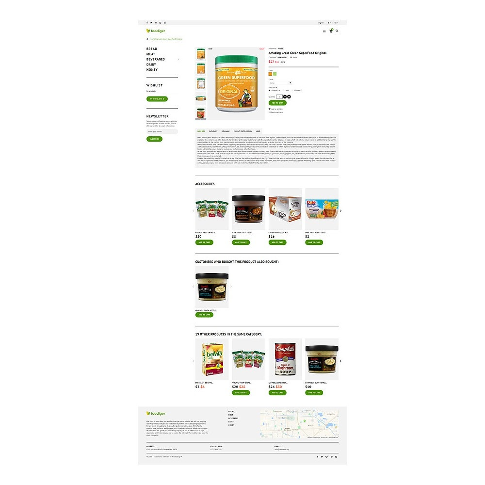 theme - Alimentation & Restauration - Foodiger - Grocery Store - 6