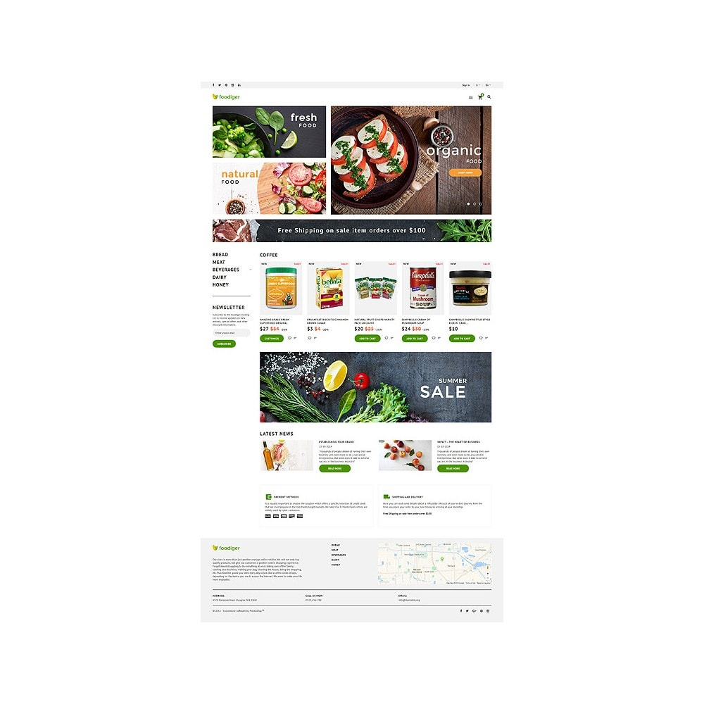 theme - Food & Restaurant - Foodiger - Grocery Store - 10