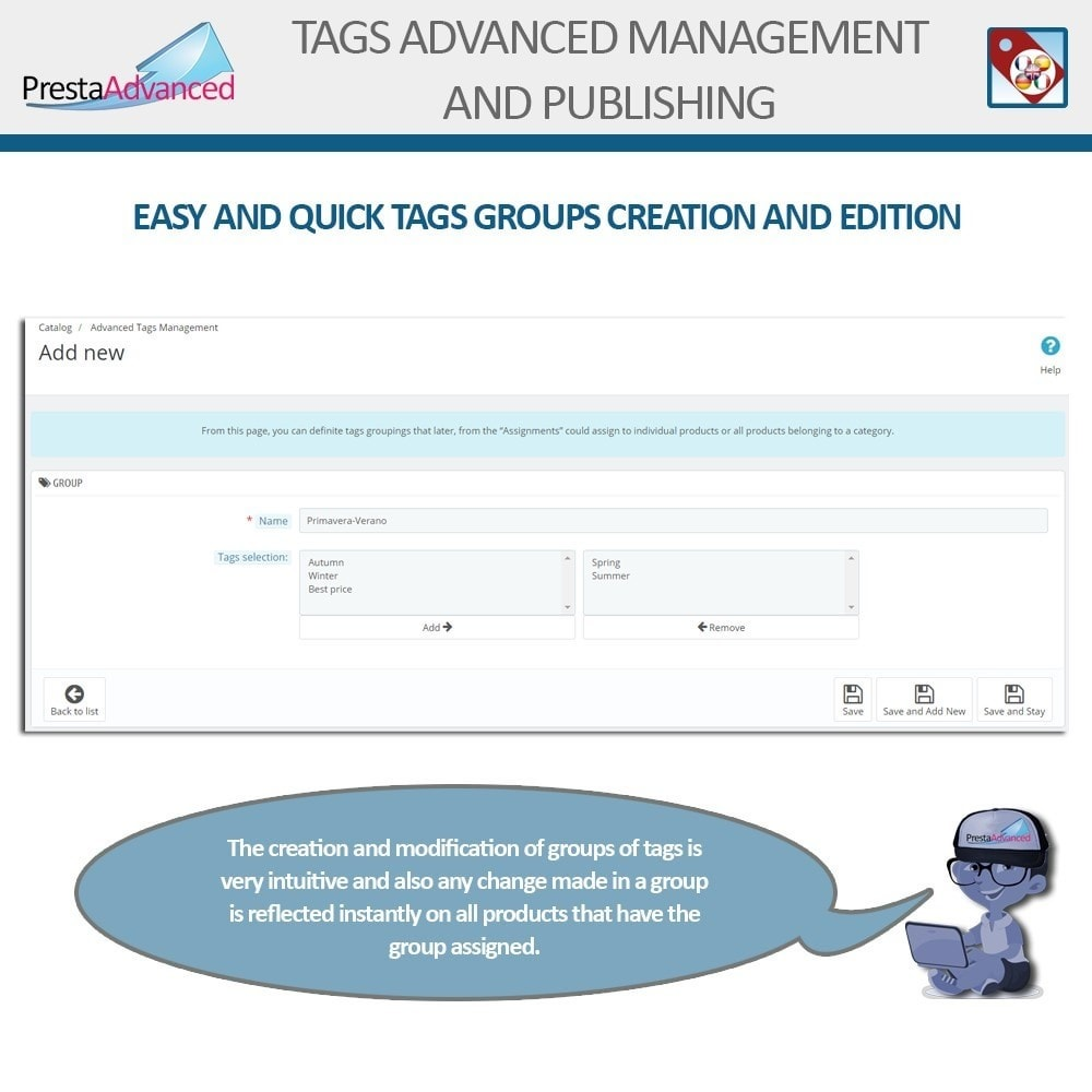 module - Odznaki & Logo - Tags: Advanced Management and Publishing - 6