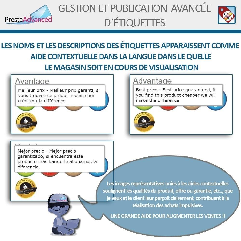 module - Etiquettes & Logos - Étiquettes: Gestion avancée et Publication - 12