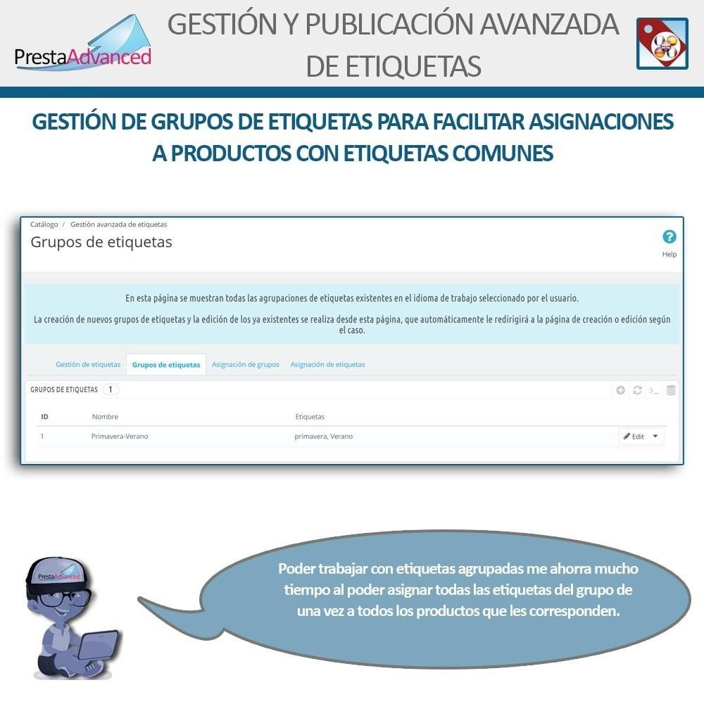module - Etiquetas y Logos - Etiquetas: Gestión Avanzada y Publicación - 5