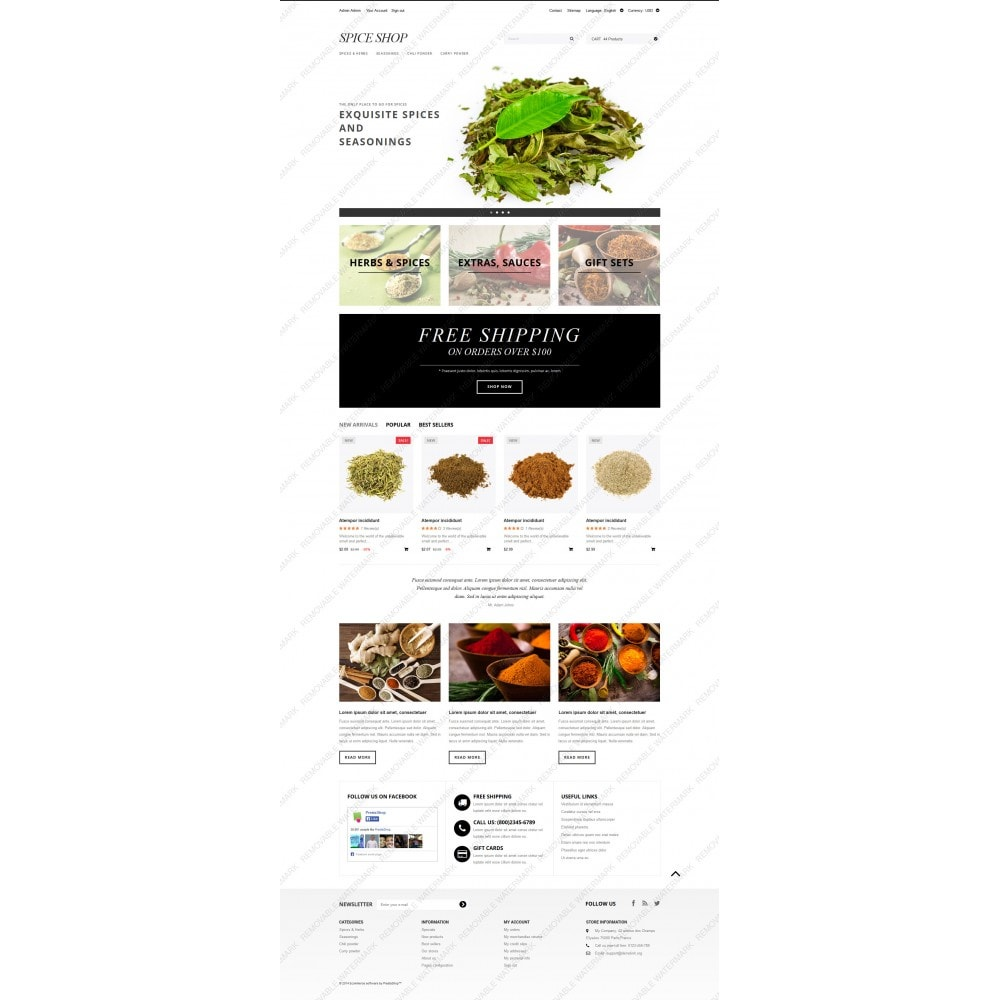 theme - Food & Restaurant - Spices and Seasonings - 3