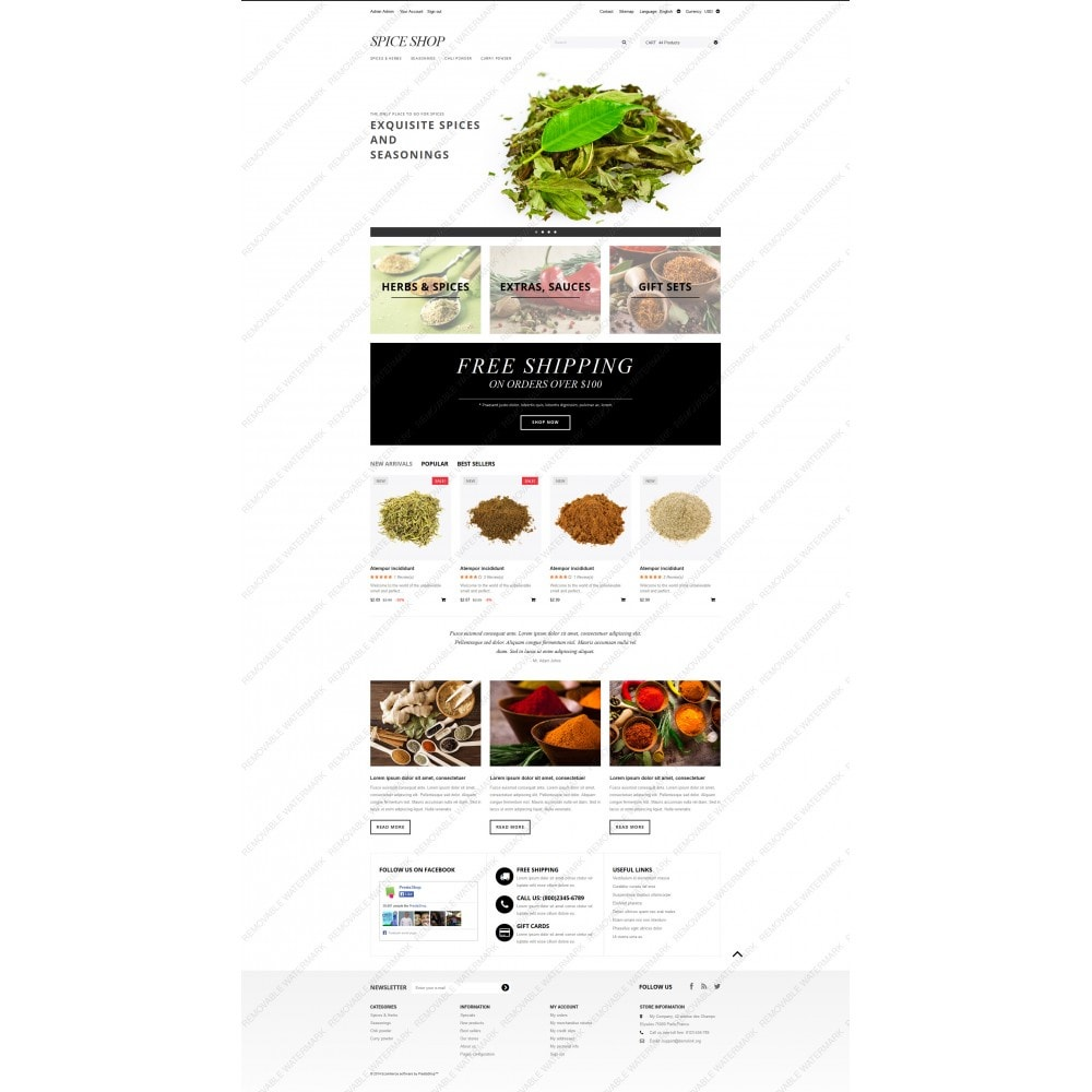 theme - Food & Restaurant - Spices and Seasonings - 5