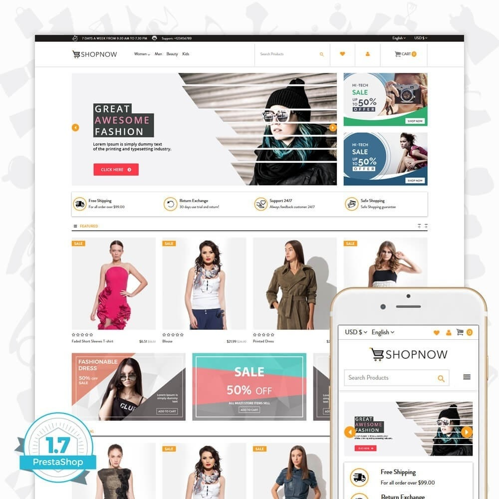 theme - Мода и обувь - ShopNow V2 - Fashion - 1