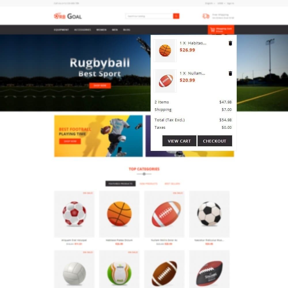 theme - Sports, Activities & Travel - Orb Goal Sports Store - 8