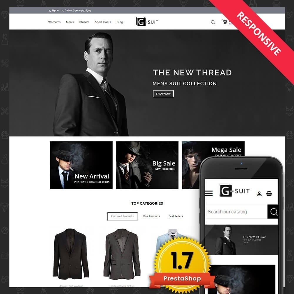 theme - Fashion & Shoes - Suit Fashion Store - 1