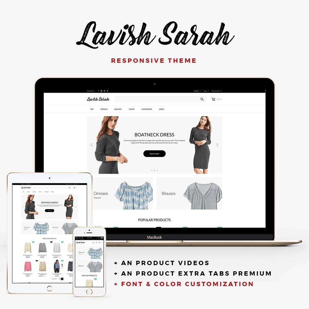 theme - Fashion & Shoes - Lavish Sarah Fashion Store - 1