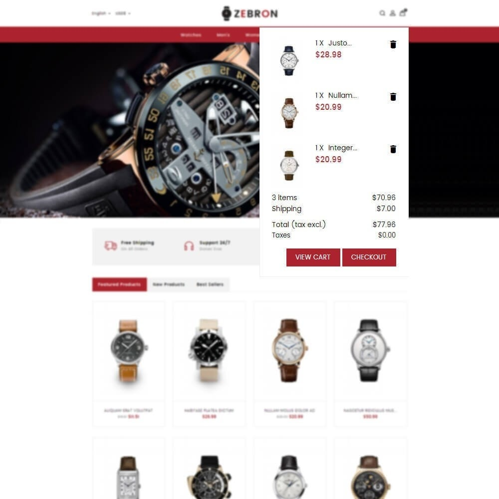 theme - Schmuck & Accesoires - Zebron watch store - 8