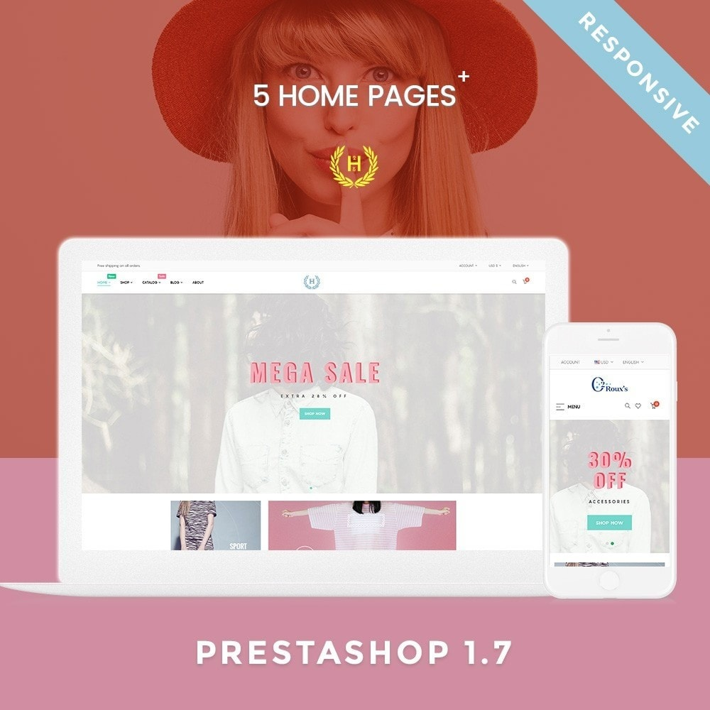 theme - Moda & Obuwie - H2 Fashion Store Responsive Multiple Prestashop Theme - 1