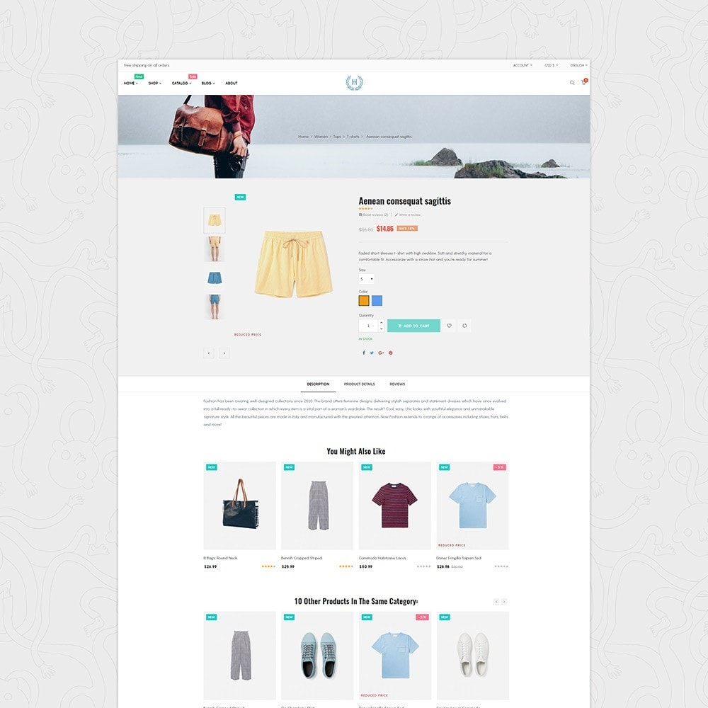 H2 Fashion Store Responsive Multiple Prestashop Theme