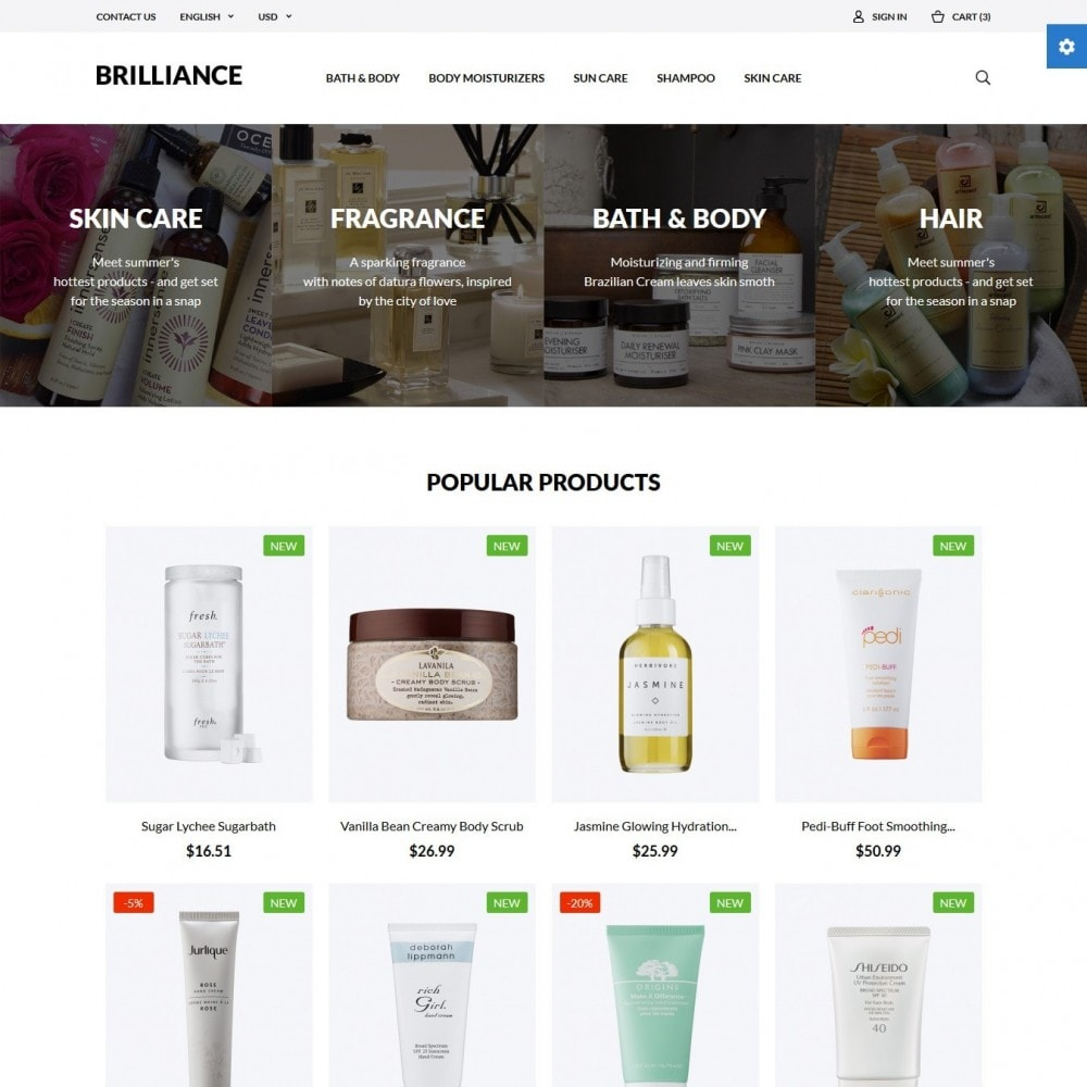 theme - Health & Beauty - Brilliance Cosmetics - 2