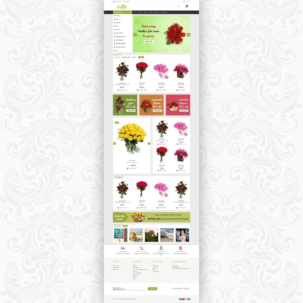 theme - Gifts, Flowers & Celebrations - Florist Flower Store - 2