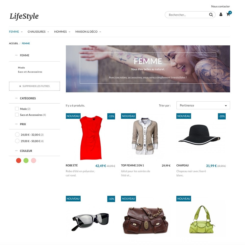 theme - Mode & Schuhe - LifeStyle by PrestaShop - Fashion & Design - 2