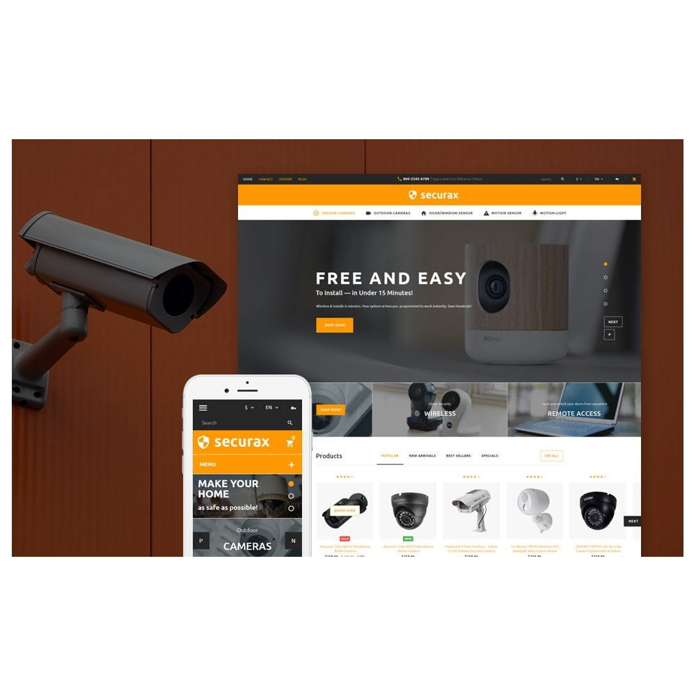 theme - Дом и сад - Securax - Security Systems Responsive - 2