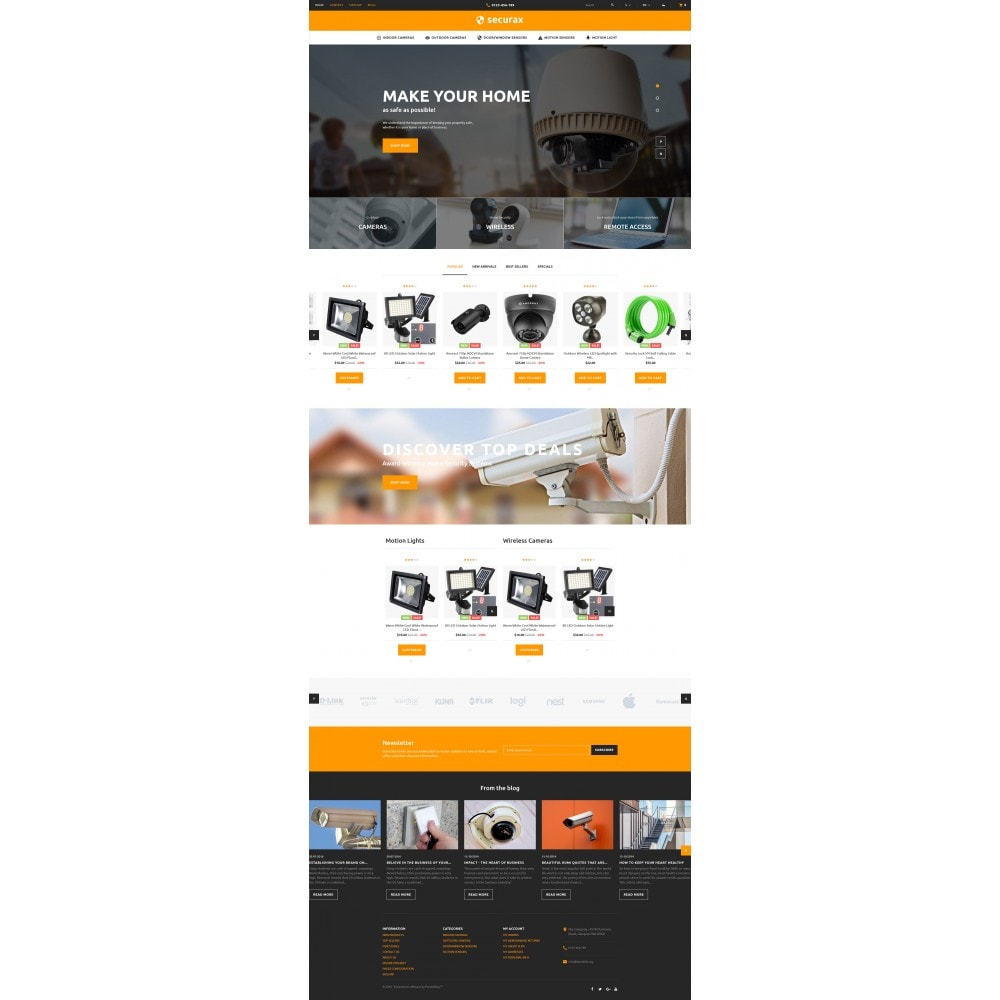 theme - Дом и сад - Securax - Security Systems Responsive - 4