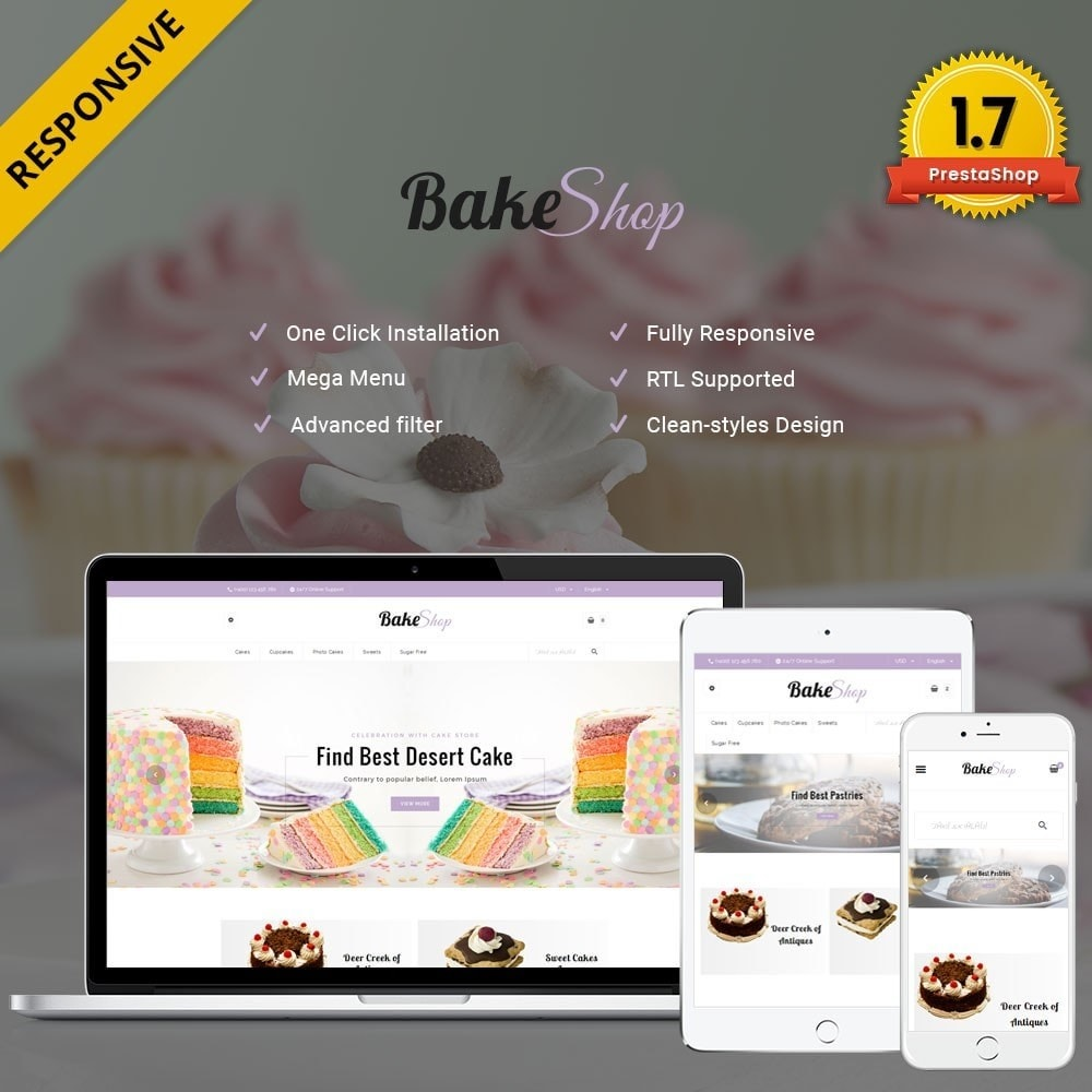 theme - Alimentation & Restauration - Bake Shop - 1