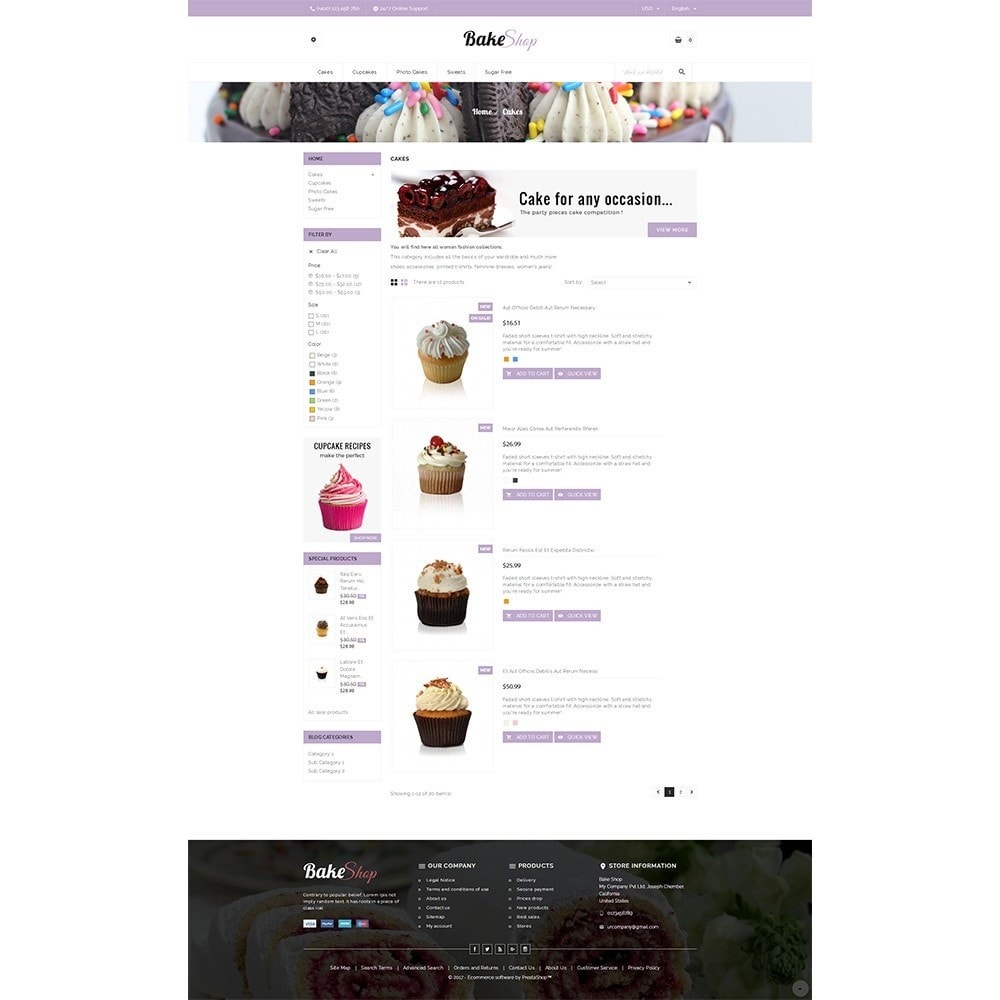 theme - Food & Restaurant - Bake Shop - 4