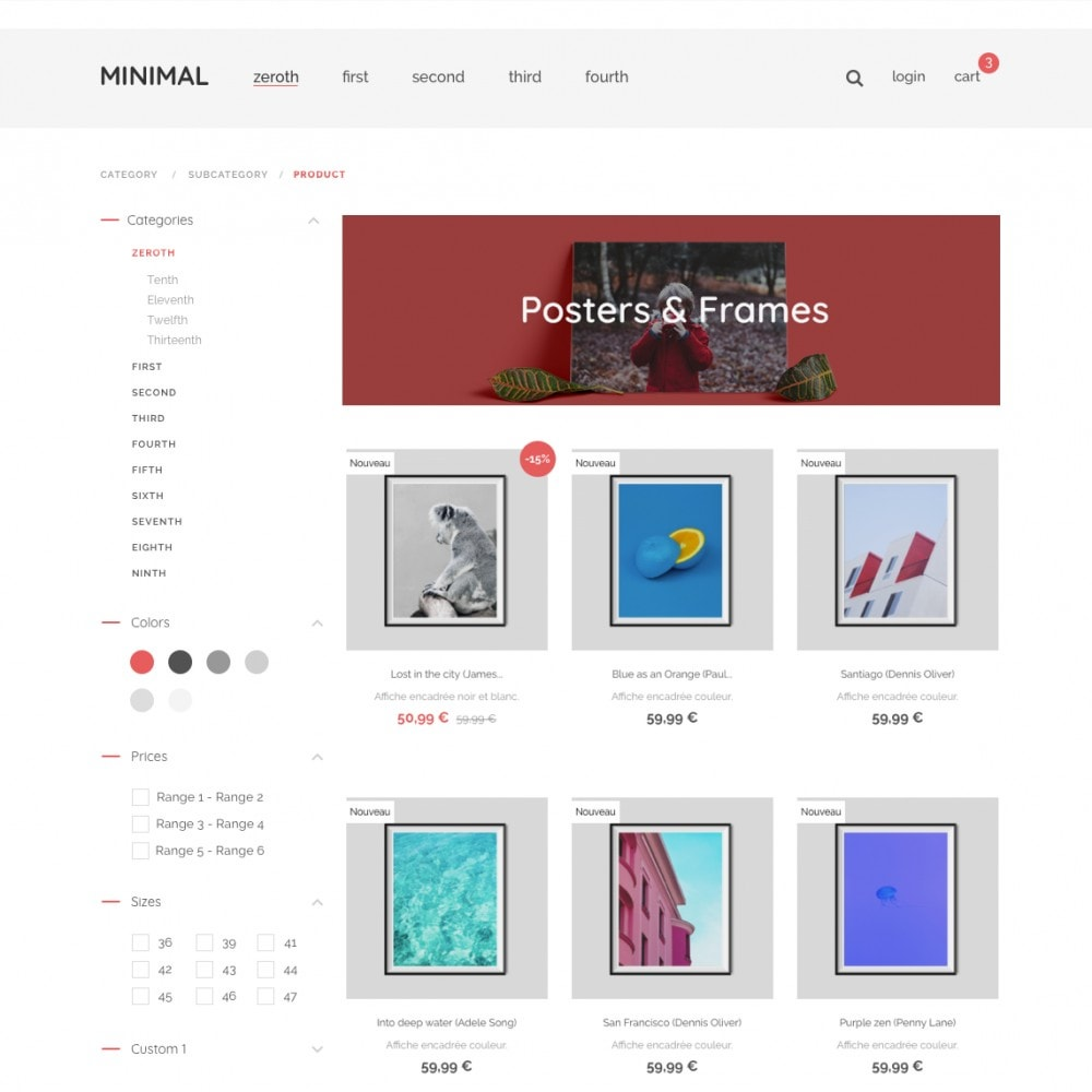 Minimal by PrestaShop - Stil & Dekoration