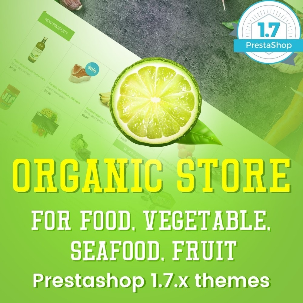 Organic Food, Drinks, Fruit Store