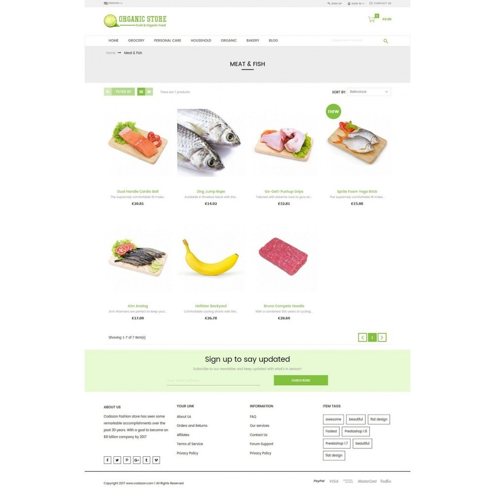 theme - Продовольствие и рестораны - Organic Food, Drinks, Fruit Store - 3