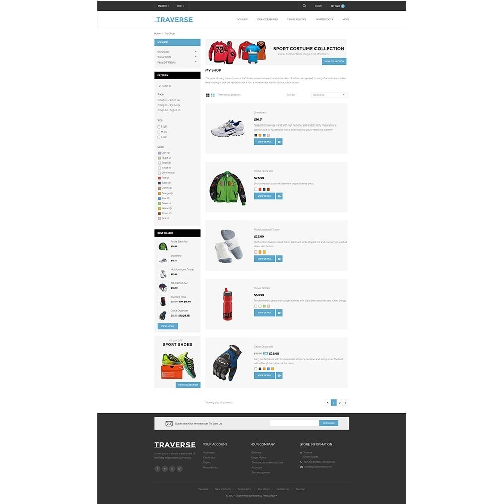 theme - Sports, Activities & Travel - Traverse Store - 4