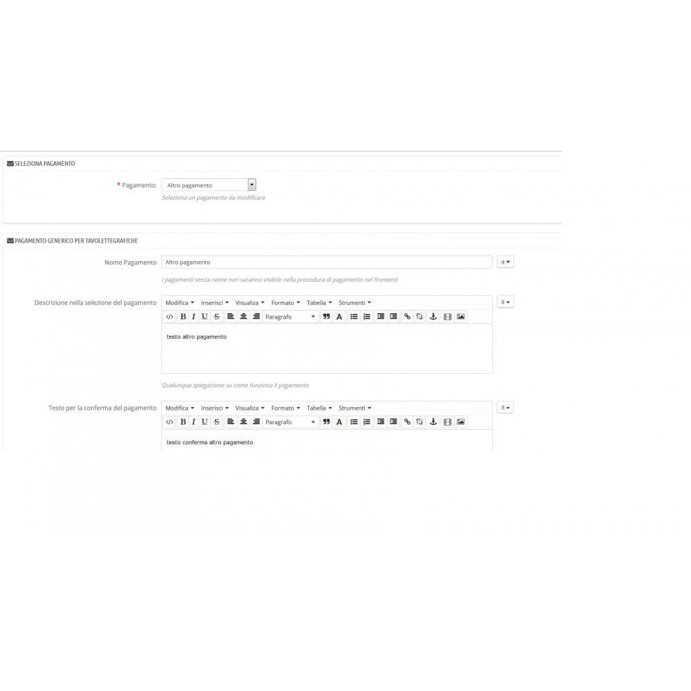 module - Altri Metodi di Pagamento - Pagamenti generici personalizzati - 1