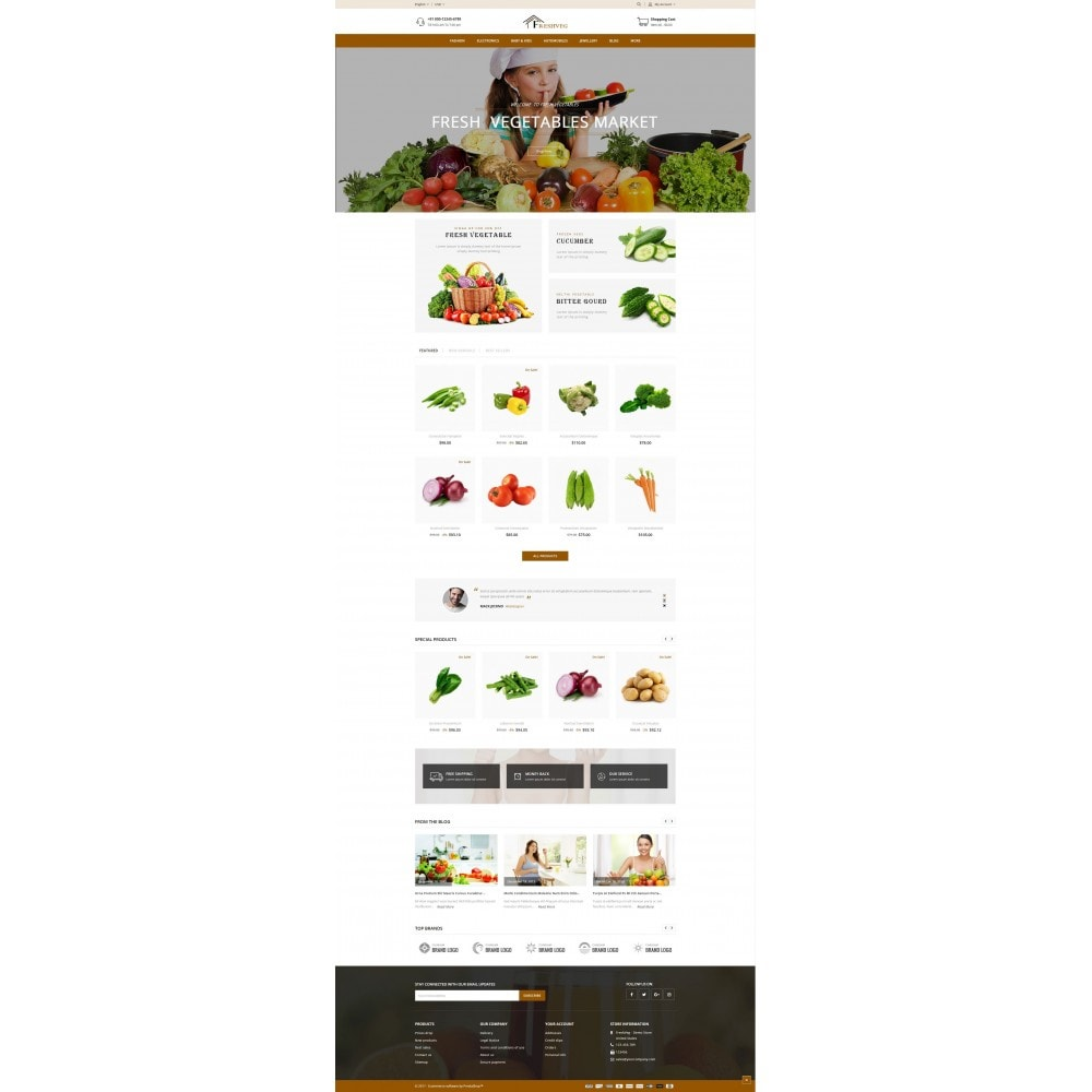 theme - Eten & Restaurant - Fresh Vegetable Shop - 2