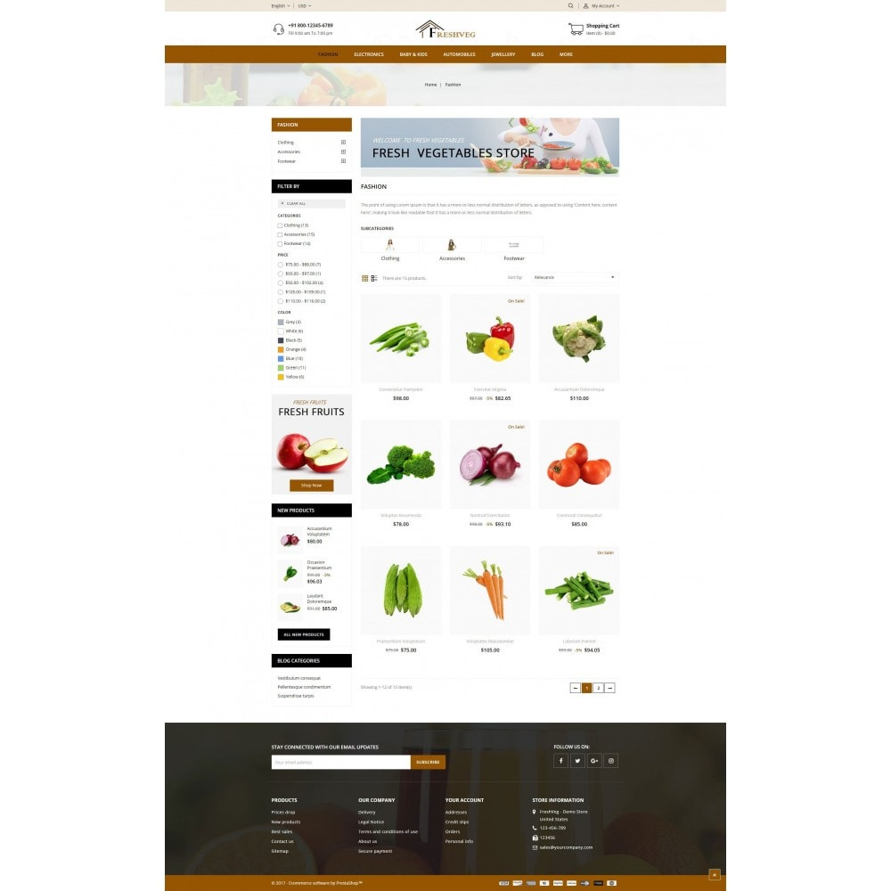 theme - Cibo & Ristorazione - Fresh Vegetable Shop - 3