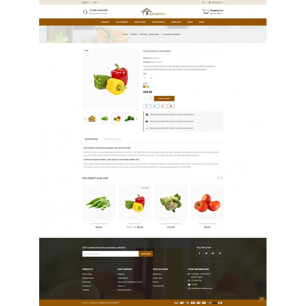theme - Cibo & Ristorazione - Fresh Vegetable Shop - 5