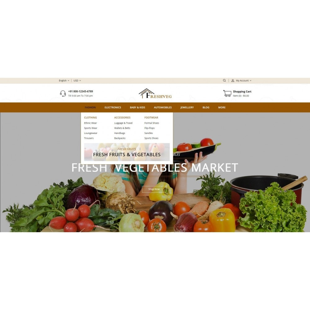 theme - Eten & Restaurant - Fresh Vegetable Shop - 6