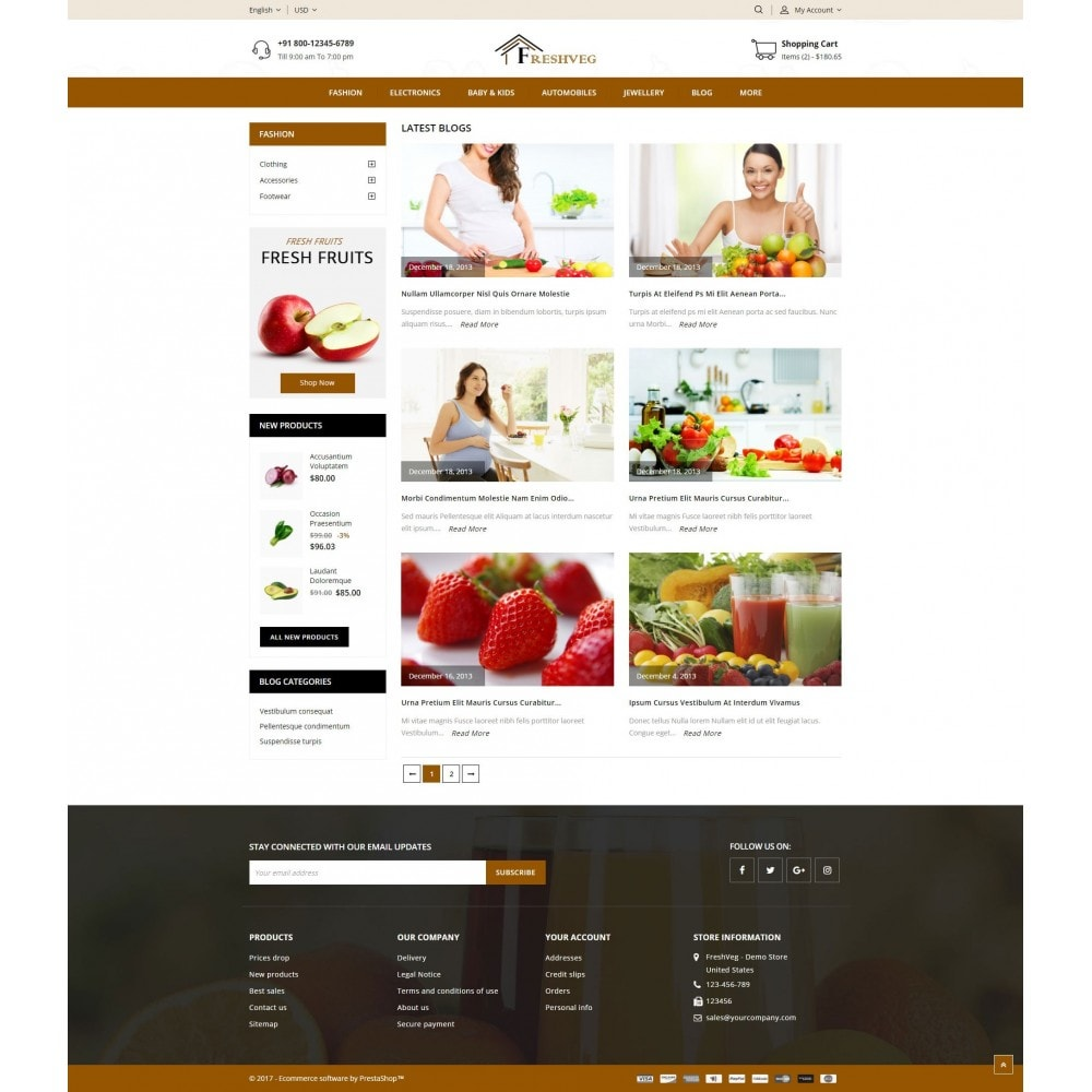 theme - Cibo & Ristorazione - Fresh Vegetable Shop - 9