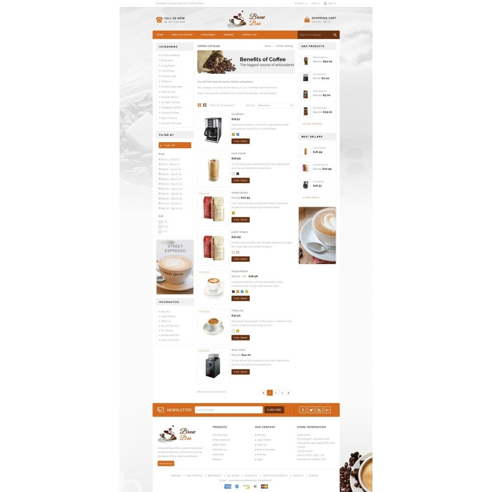 theme - Продовольствие и рестораны - Brew Bar - Coffee Store - 4