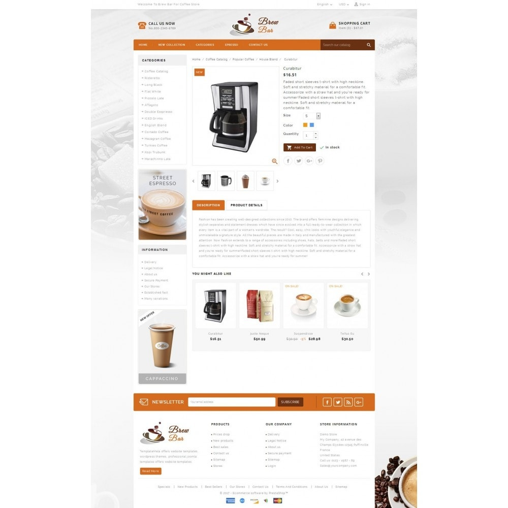 theme - Alimentation & Restauration - Brew Bar - Coffee Store - 5