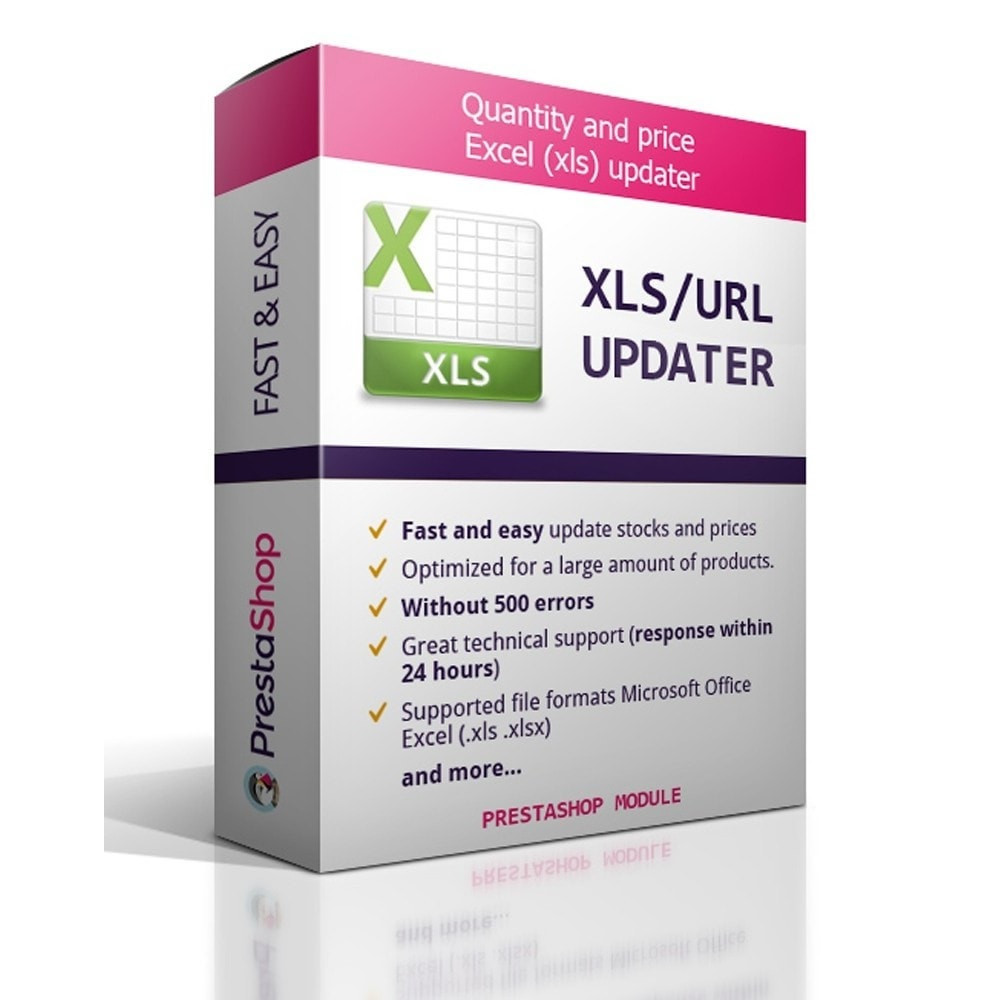 module - Import & Eksport danych (csv, pdf...) - Quantity and price Excel (xls) updater - 1