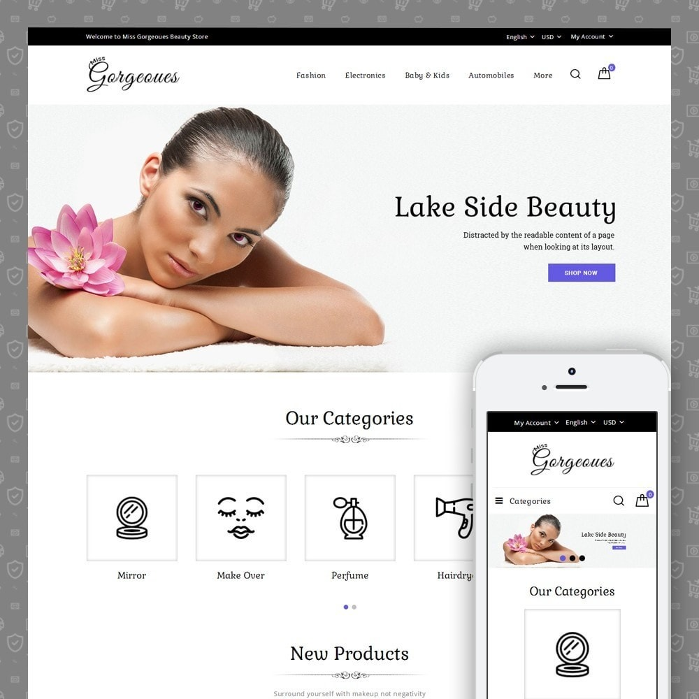 theme - Health & Beauty - Gorgeous Beauty Store - 1