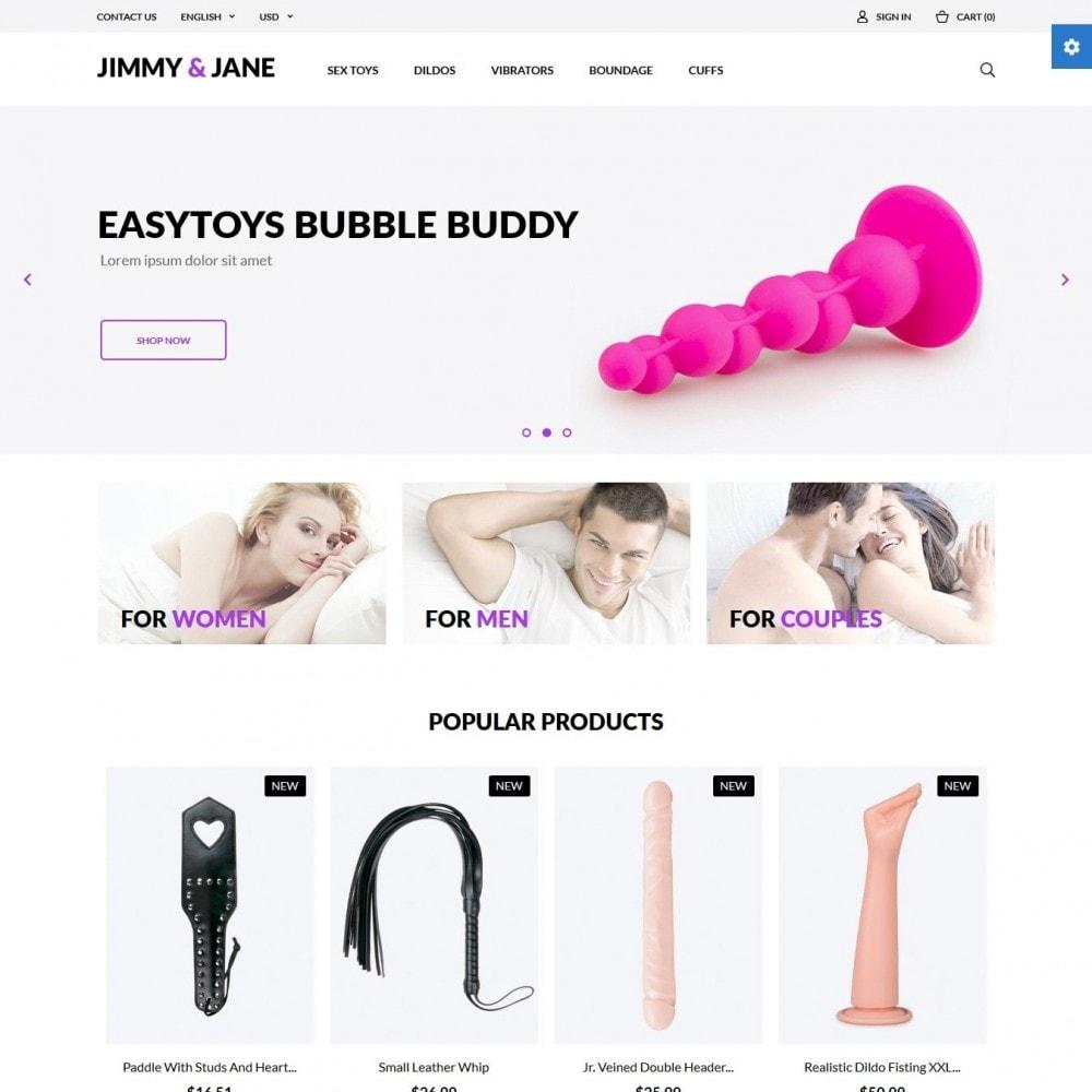 theme - Lingerie & Adulti - Jimmy&Jane - SexShop - 2