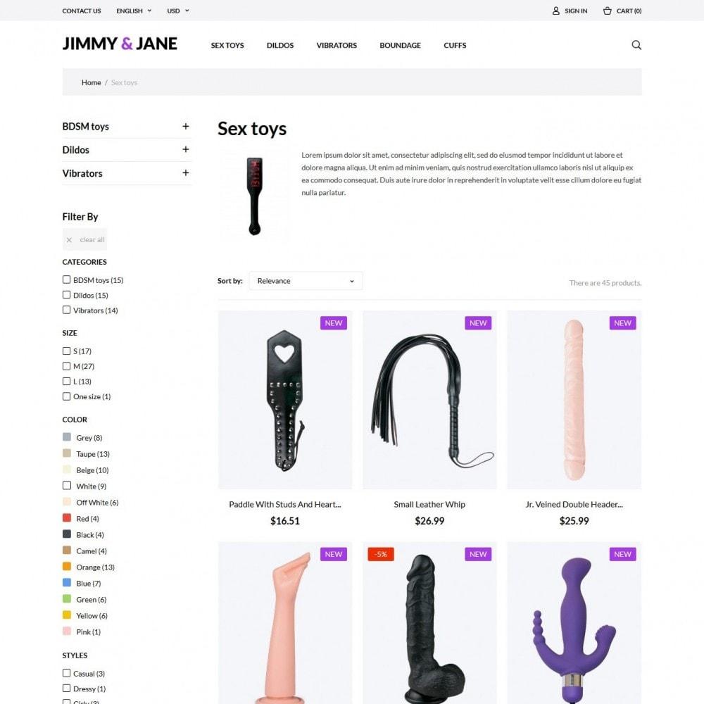 theme - Lingerie & Adult - Jimmy&Jane - SexShop - 5