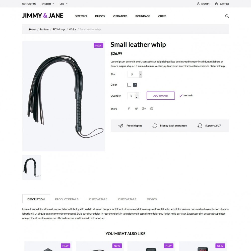 theme - Lingerie & Adult - Jimmy&Jane - SexShop - 6