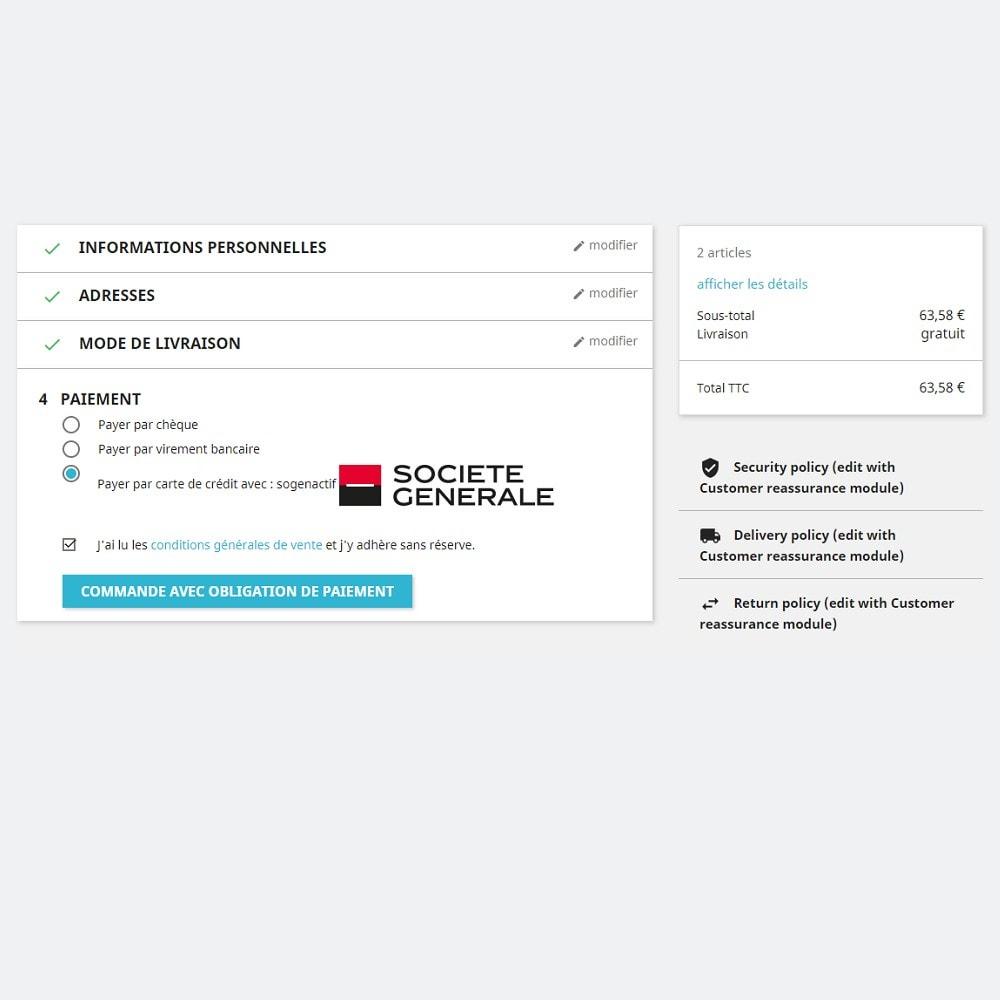 module - Paiement par Carte ou Wallet - Sogenactif 2.0 - Société Générale Atos Sips Worldline - 4