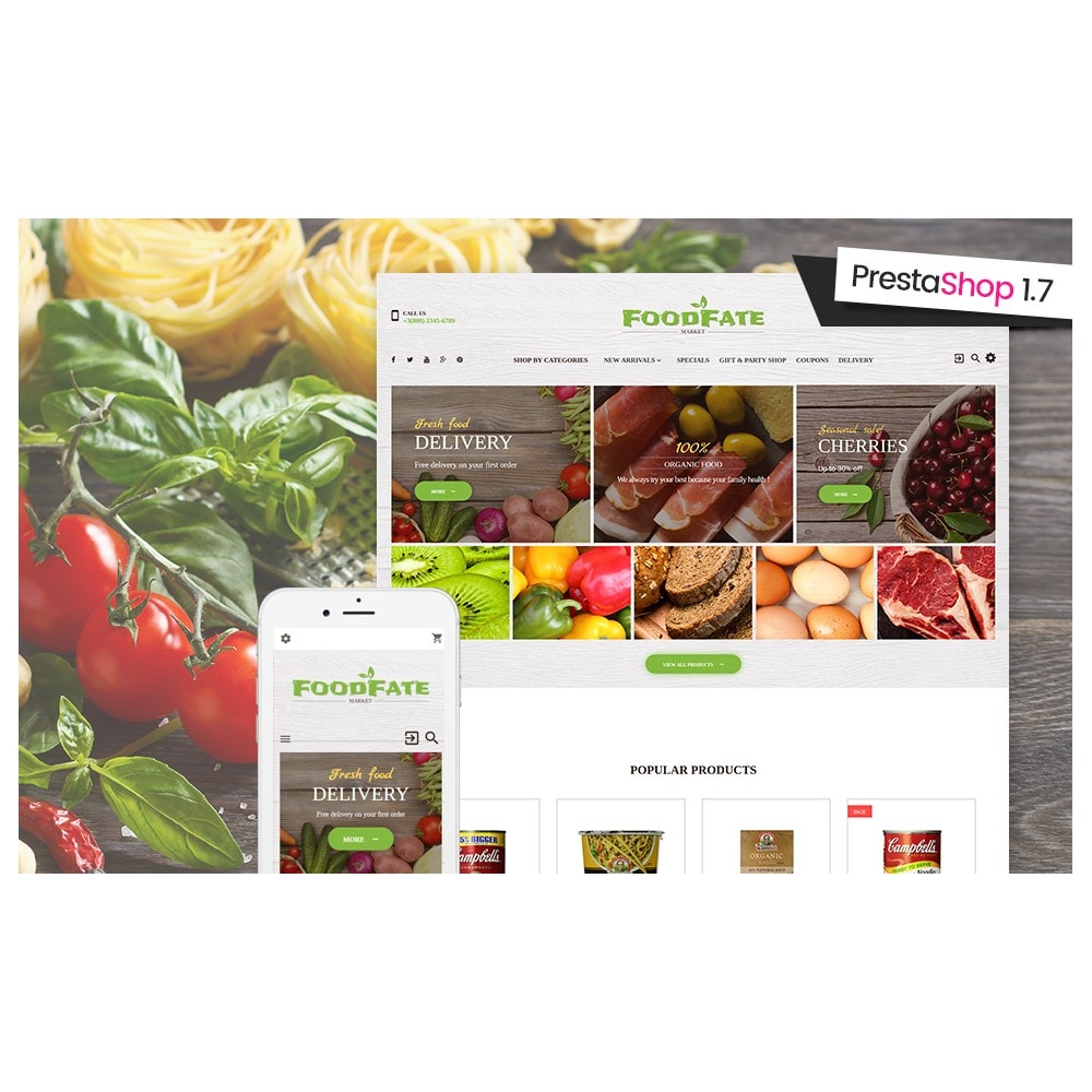 theme - Food & Restaurant - FoodFate - Supermarket - 2