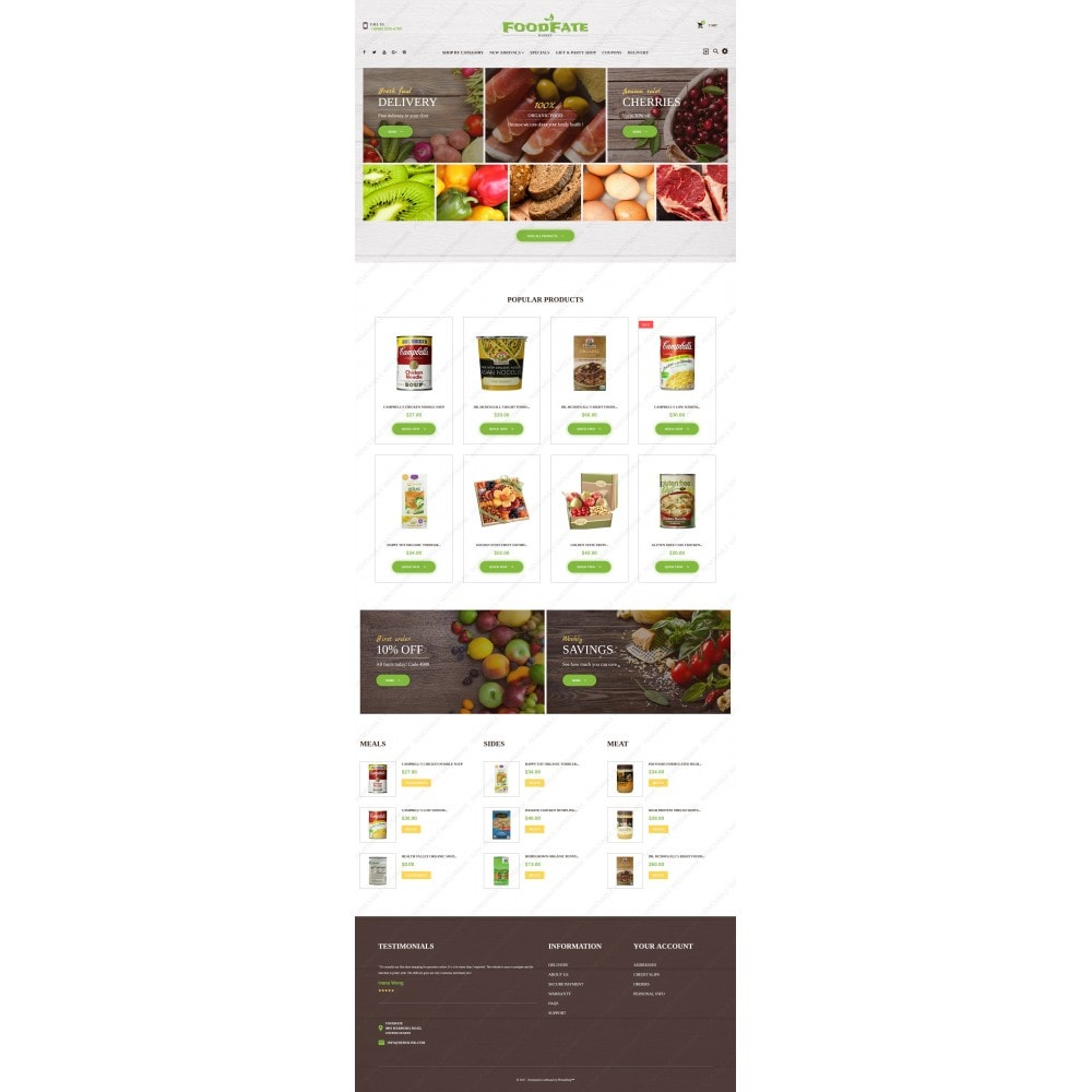 theme - Food & Restaurant - FoodFate - Supermarket - 3