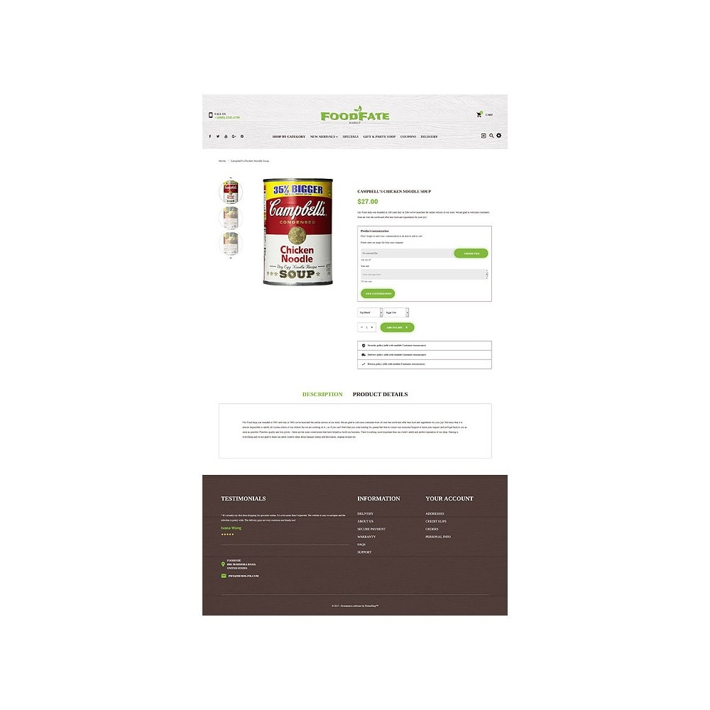 theme - Food & Restaurant - FoodFate - Supermarket - 6
