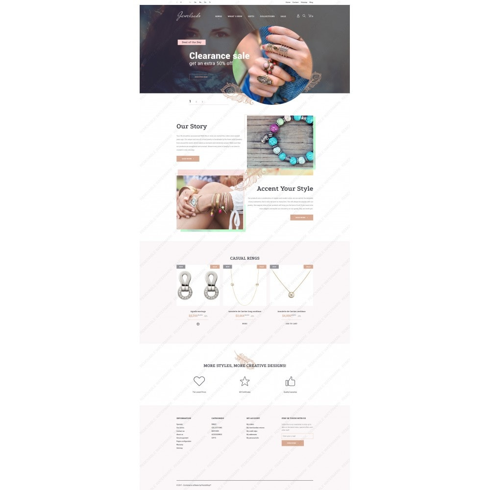 theme - Мода и обувь - White Jewelry PrestaShop Template by Jetimpex - 2