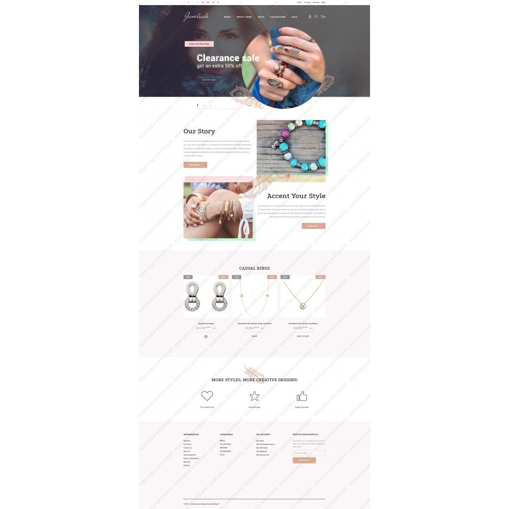 theme - Мода и обувь - Jewelsado - Jewelry Template - 5