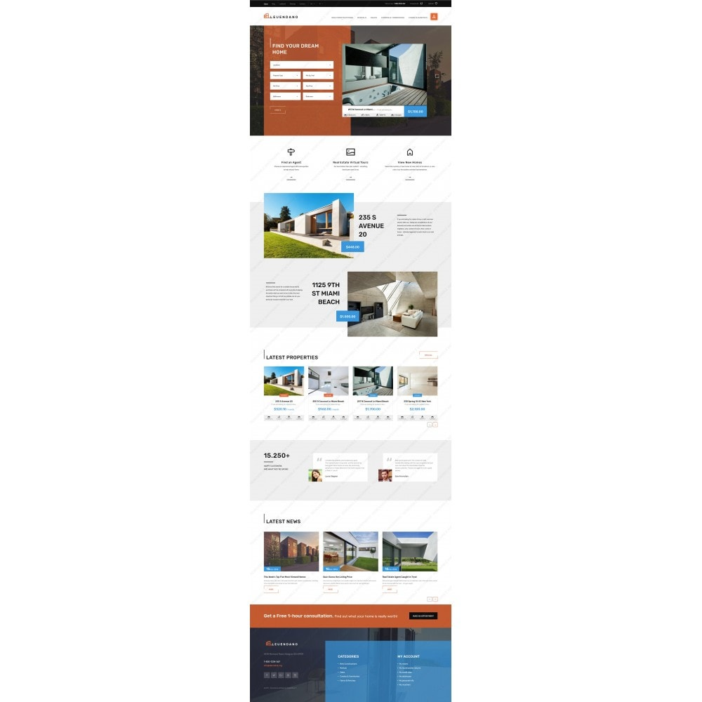 theme - Дом и сад - Leuendano - Real Estate Agency Responsive - 2