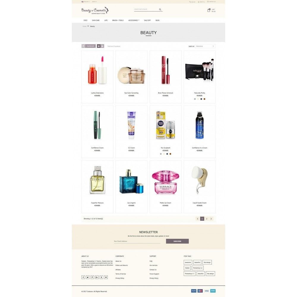 theme - Santé & Beauté - Beauty and Cosmetic store - 5