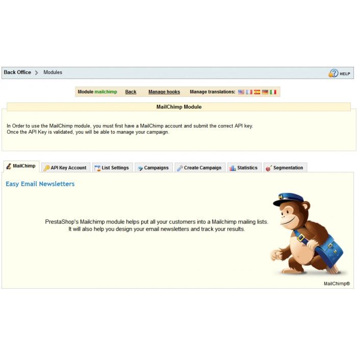 module - Newsletter y SMS - Newsletter & Estadísticas Mailchimp - 1.4 & 1.5 - 2
