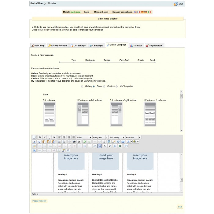 module - Newsletter y SMS - Newsletter & Estadísticas Mailchimp - 1.4 & 1.5 - 4