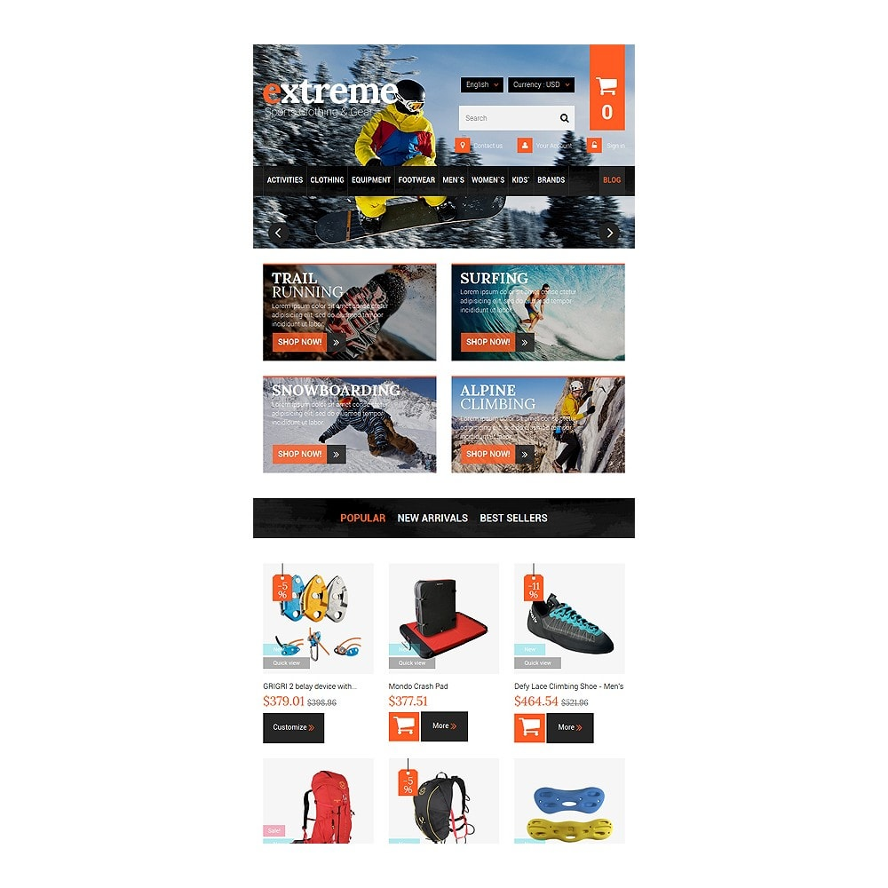 theme - Sports, Activities & Travel - Extreme Clothes & Gear - 7